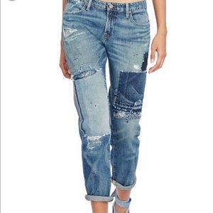 Ralph Lauren distressed bandana jeans